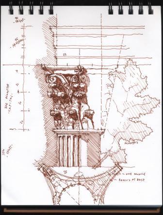 C-Corinthian column capital