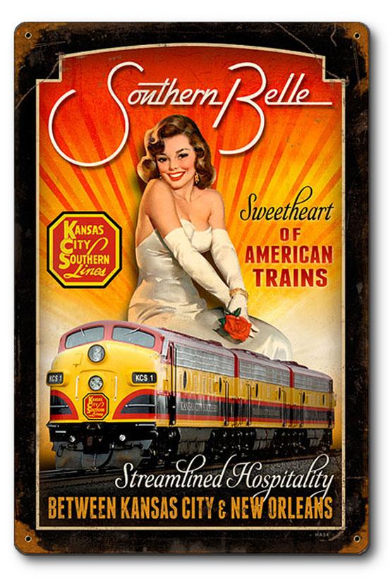 HA034-railroad-pinup-girl-kansas-city-southern-belle-train